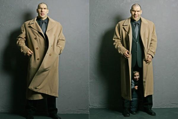 Николай Валуев с сыном , 2006